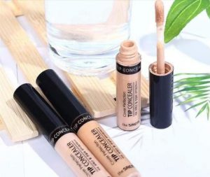 REVIEW Kem che khuyết điểm The Saem Cover Perfection Tip 2