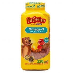 Kẹo gấu dẻo L'il Critters Gummy bổ xung Omega 3 và DHA 220 viên