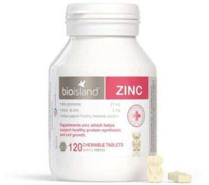 Viên nhai bổ sung kẽm Bio Island Zinc 120 viên cho bé 1