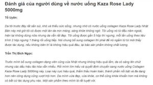 REVIEW nước uống Collagen Kaza Rose Lady 5000mg