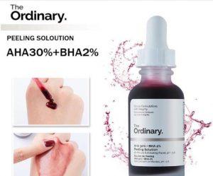 Tinh chất tẩy da chết hóa học The Ordinary AHA 30% + BHA 2% có tốt không?