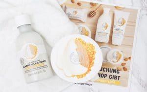 REVIEW Bộ Dưỡng Thể The Body Shop Almond Milk & Honey 2