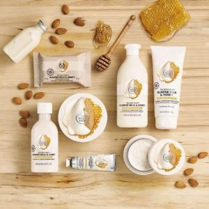 REVIEW Bộ Dưỡng Thể The Body Shop Almond Milk & Honey 2