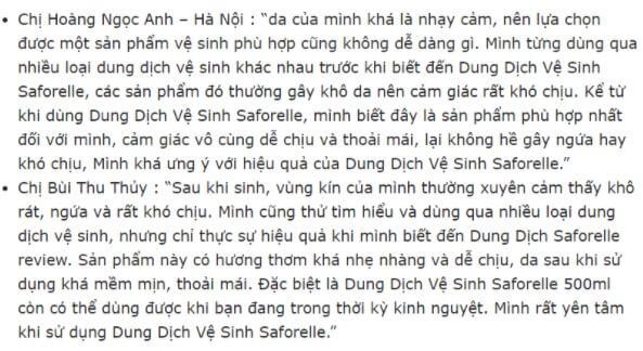 REVIEW Dung Dịch Vệ Sinh Saforelle 100ml Pháp 2