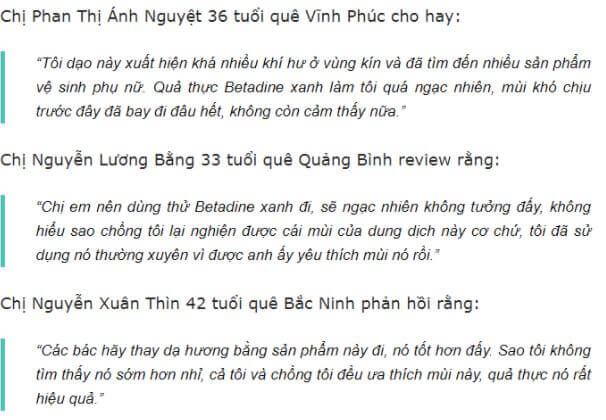 REVIEW Dung Dịch Vệ Sinh Phụ Nữ Betadine 4