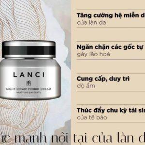 Kem đêm Lanci giúp nuôi dưỡng và tái tạo làn da hiệu quả