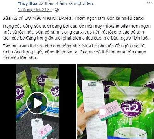 REVIEW sữa bột A2